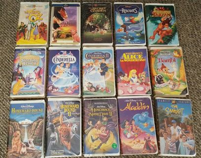 ☆ 15 GREAT DISNEY AN OTHER VHS MOVIES ☆