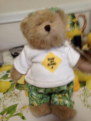 Brand New Boyd's Bear Pregnant Ima Late