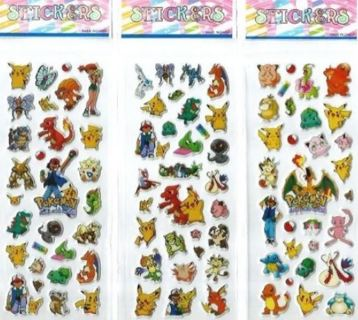 POKEMON Value Pack JAPANESE Pop Up BUBBLE Stickers Vibrant Detailed FREE SHIPPING