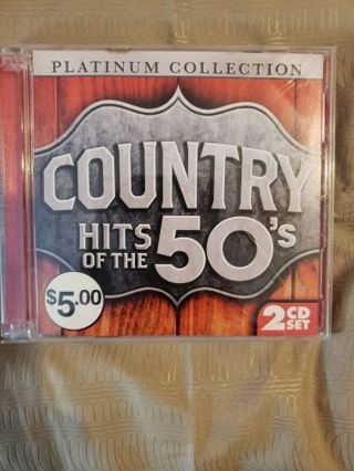 Country hits of the 50's. Cd