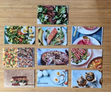 10 Envelopes with FOOD Theme