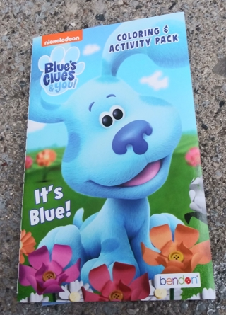 SMALL COLORING BOOK WITH STICKERS BLUES CLUES