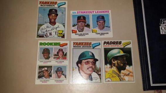 1977 topps HOF stars and rc