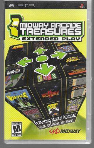 PSP games - Midway Arcade Treasures - UMD game disk