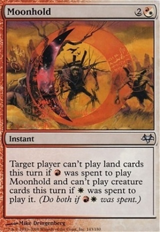 (4) Moonhold - Eventide - MINT - MTG magic the gathering x4 UNCOMMON