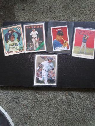 MLB Tigers Vintage HTF Autos & Cabrera