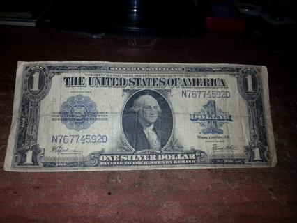 1923 $1 Silver Certificate **Horse Blanket**