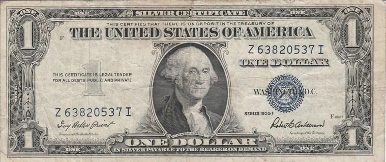 1935-F $1 Silver Certificate