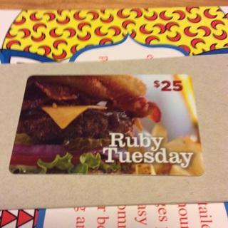 Ruby Tuesday Gift Card $4.82 balance