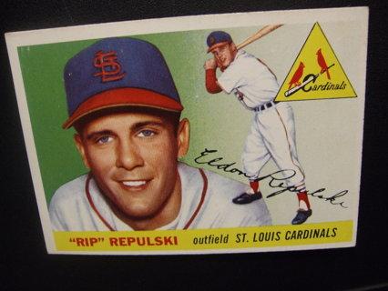 1955 TOPPS BASEBALL CARD NO. 55 - RIP REPULSKI - CARDINALS - PSA WORTHY