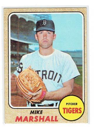 Free Mike Marshall 1968 Topps Baseball Card 201 Detroit Tigers