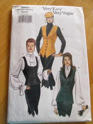 Free: Vest Sewing Pattern~Vogue 8862~waistcoat~vintage NEW~Steampunk ...