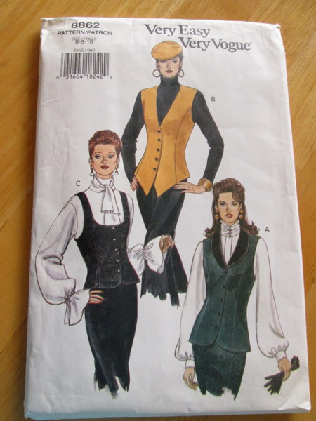 Free: Vest Sewing Pattern~Vogue 8862~waistcoat~vintage NEW~Steampunk ...