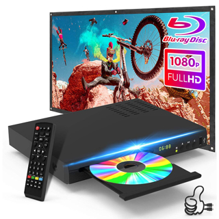MEGA BARGAIN!! ONE TIME OPPORTUNITY! 2021 New Blu-Ray Disc Player, HD Blu-Ray DVD Player