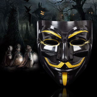 Vendetta Guy Fawkes Mask Anonymous Halloween Cosplay Fancy Dress Costumes