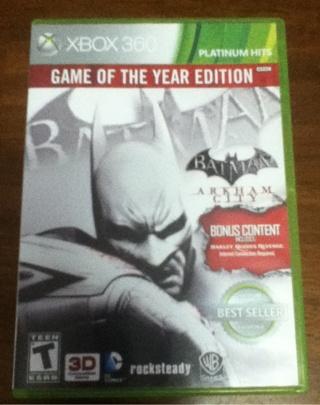 Batman Arkham City Goty Edition!!