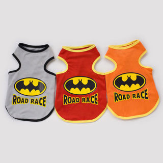 Batman Superman Summer Dog Clothes Puppy T shirts Mesh Breathable Dog Vest New