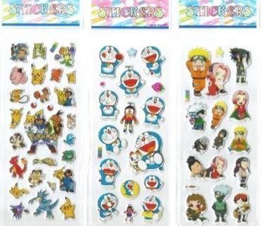Puffy Anime Variety JAPANESE Manga Pop Stickers Vibrant Detailed CHIBI craft scrapbook FREE SHIPPING