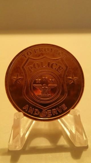 """""""POLICE"""" 1 Oz. .999 Fine Copper Round"""