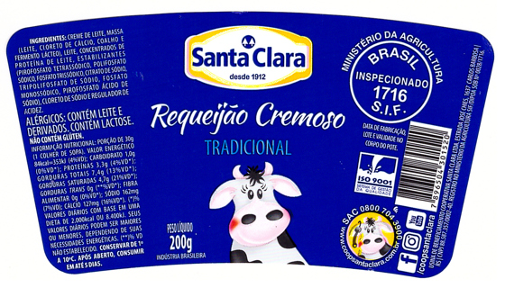 SANTA CLARA TRADITIONAL label