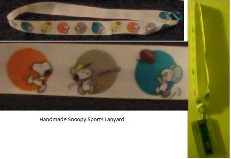 Handmade Snoopy Sports Lanyard