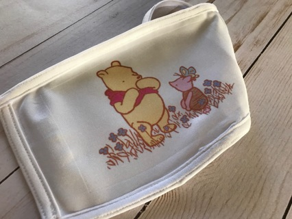 Pooh Bear & Piglet Adult Size Face Mask Free US shipping Winnie the Pooh