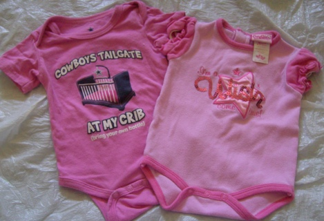 47fa4cd2 Free: 0-3 Month Pink Dallas Cowboys and Pink Wish come True Onesies ...