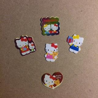 Sanrio Hello Kitty Sticker Flakes ~ 5 TOTAL ~ VERY KAWAII!!