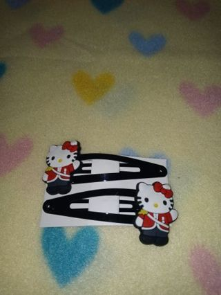 """❤✨❤✨❤BRAND NEW 2-PC.SET OF """"HELLO KITTY"""" HAIR CLIPS (#2)❤✨❤✨❤BY:MAYA"""