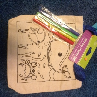 New kids fabric coloring bag