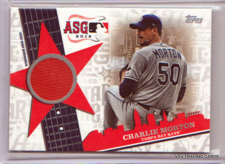Charley Morton, 2019 Topps All-Star Stitches Relic Card #ASSR-CM, Tampa Bay Rays