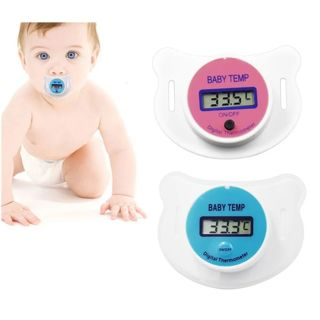 Baby Health Monitors Nipple Thermometer Baby Fever Thermometer LCD Digital