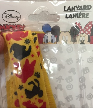 Disney lanyard Mickey Minnie Goofy Donald new never used