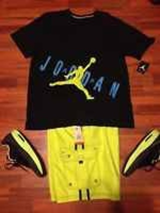 f2b2aa4e6553 LOOK JORDAN OUTFIT WITH MATCHING SHORTS AND SHIRT BOTH SIZE XXL AND CMFT  VIZ AIR 11