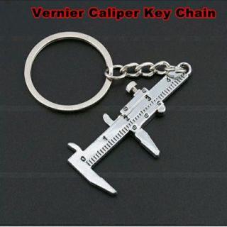New Vernier Caliper Pendant Keychain Keys Holder Car Keyring