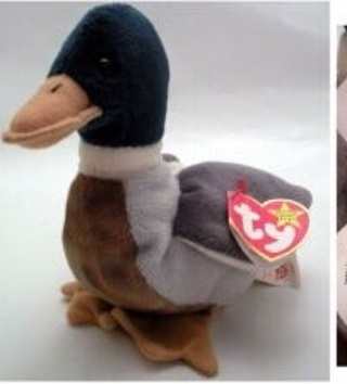 JAKE THE DUCK RARE BEANIE BABIE mint condition/mint tags