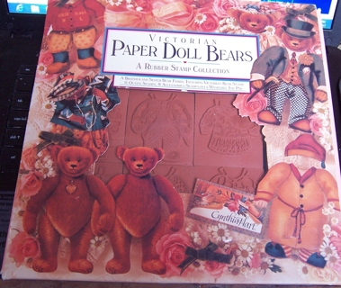 VictorianPaper Doll Bears Rubber Stamp Collection by Rubber Stampede