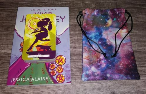 VIVID JOURNEY TAROT DECK + BOOK + BAG -- FREE SHIPPING!