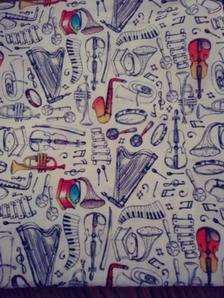 For The Love Of Music Fabric