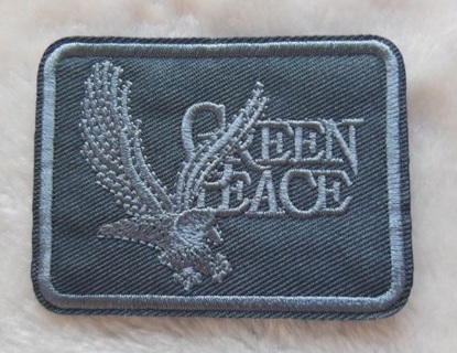 1 NEW Green Peace IRON ON PATCH International Environmental Organization Applique FREE SHIPPING