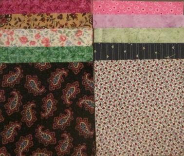 40 Fabric Charm Squares - Set #3