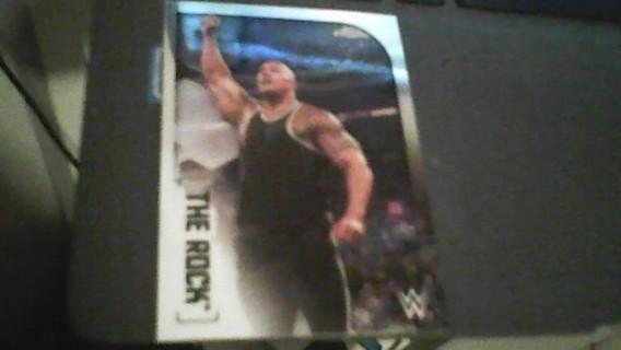 2020 WWE Topps Chrome The Rock Wrestling card