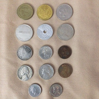 Coin lot of mostly unknowns-see photos of mixed lot