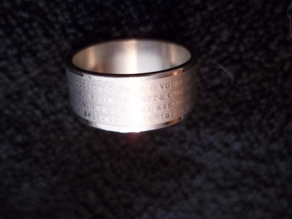 STAINLESS STEEL RING WITH CROSS ON IT