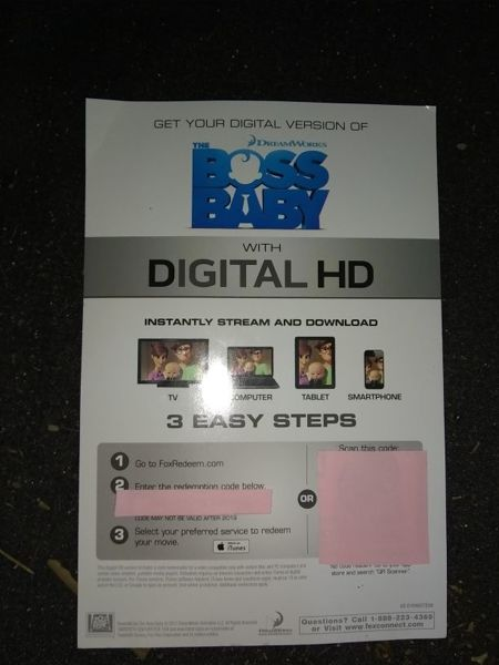 Free The Boss Baby Digital Hd Download Other Dvds