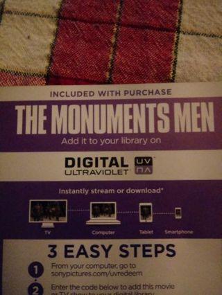 The Monuments Men VUDU Code