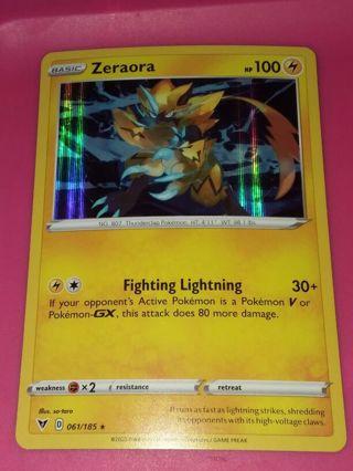 Rare Holo Zeora Vivid Voltage Pokemon Card mint