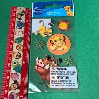 Disney Lion King Sandylion dimensional sticker sheet NEW