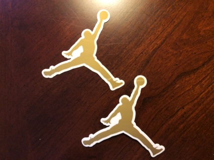MICHAEL JORDAN Gold Sticker Lot AIR JORDAN Nike