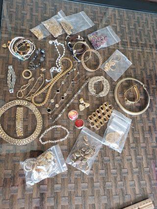 44 PC Vntg -now Jewelry Lot
